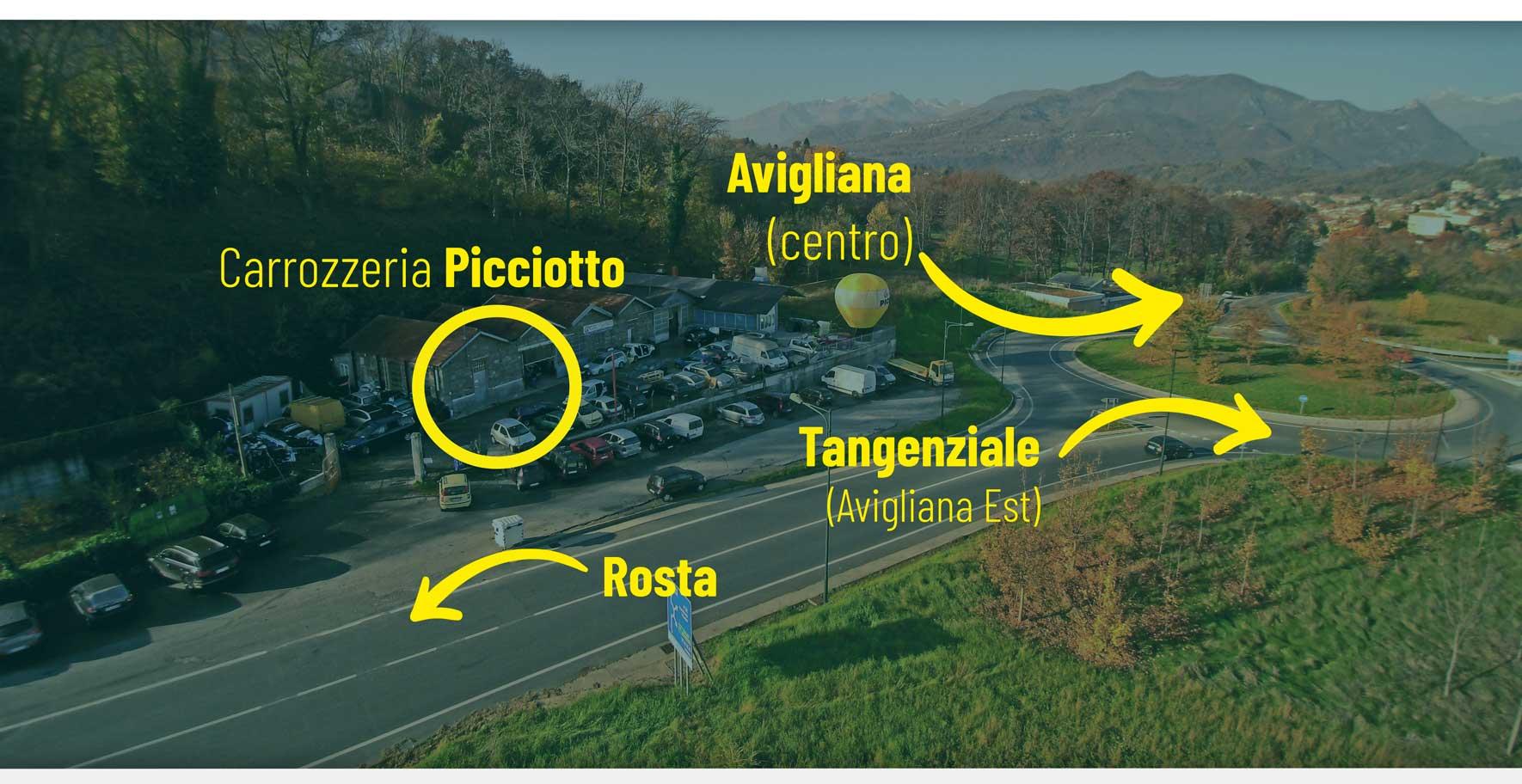 Dove siamo - Carrozzeria picciotto Avigliana Torino